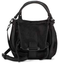Leather & Calf Hair Shoulder Bag $278 thestylecure.com