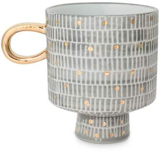 Oliver Bonas Tamma Grey Porcelain Mug