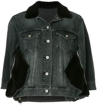 Sacai button-up denim jacket