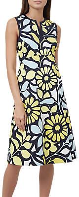 Hobbs Lauren Dress, Yellow Multi