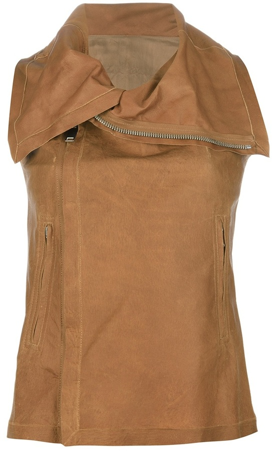 Rick Owens 'Blister Halter' cropped waistcoat