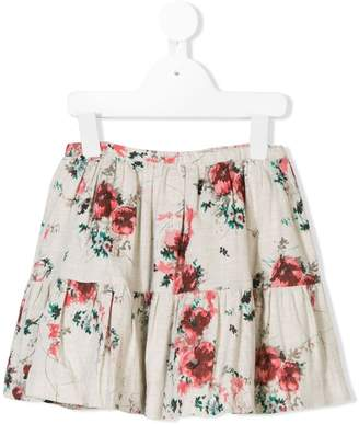 Bonpoint floral print tiered skirt