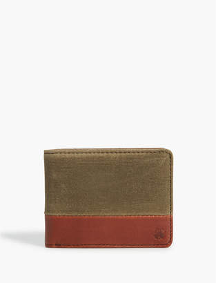 Lucky Brand CANVAS LEATHER WALLET