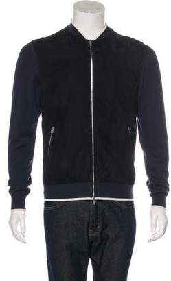Hermes Wool & Leather Bomber Jacket