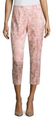 Peserico Side Zip Block Crop Pants