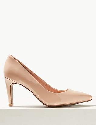 Marks and Spencer Stiletto Heel Pointed Skin Tone Court Shoes