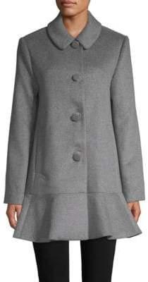 Kate Spade Flared Long-Sleeve Coat