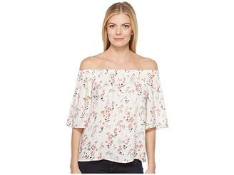 Bobeau B Collection by Parker Off Shoulder Women's Short Sleeve Pullover