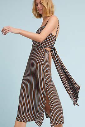 Faithfull Striped Bow-Back Dress