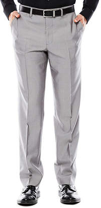 Jf J.Ferrar Men's JF Gray Shimmer Shark Flat-Front Slim Fit Suit Pants