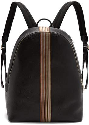 Paul Smith Signature stripe leather backpack