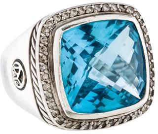 David Yurman Topaz and Diamond Albion Ring $1,595 thestylecure.com