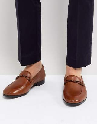 Dune Loafers In Tan Leather