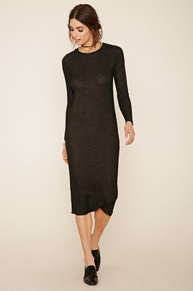 FOREVER 21+ Heathered Knit Midi Dress $19.90 thestylecure.com