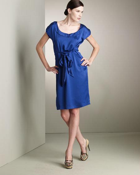Yves Saint Laurent Silk Tie-Dress