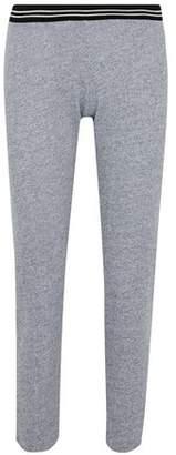 Monrow Striped Mélange Jersey Track Pants