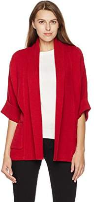 True Angel Women's Shawl Collar Kimono Sleeve Cardigan