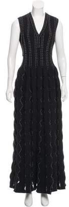 Alaia Sleeveless Knit Evening Dress