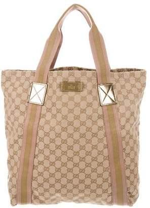Gucci GG Canvas Vertical Shopper Tote