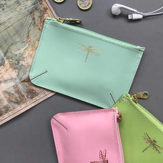 Undercover Dragonfly Leather Coin Purse
