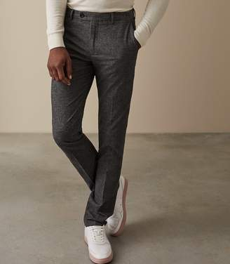 Reiss EQUATOR TEXTURED TAILORED TROUSERS Dark Grey