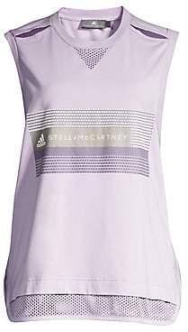 adidas by Stella McCartney Women's Organic Cotton Logo Mesh Tank Top