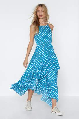Nasty Gal Positano Polka Dot Maxi Dress