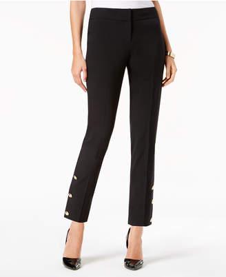 Nine West Embellished Slim-Leg Pants