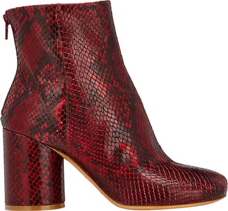 Maison Margiela Women's Cylindrical-Heel Ankle Boots-RED $1,045 thestylecure.com