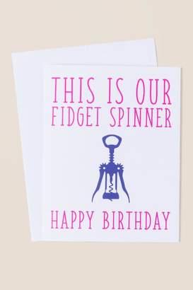 Ann Page Corkscrew Fidget Spinner Birthday Card