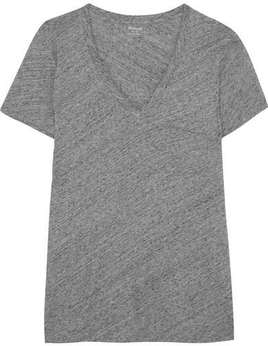 Madewell - Slub Cotton-jersey T-shirt - Gray