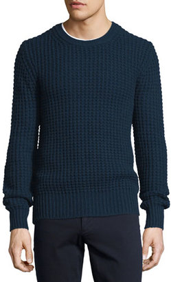 Vince Chunky Wool/Cashmere-Blend Crewneck Sweater $355 thestylecure.com