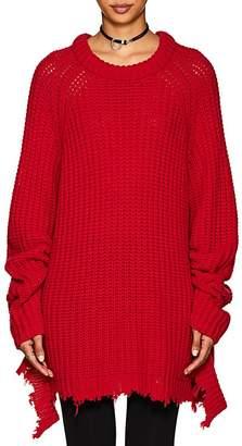 R 13 Women's Shredded Cashmere Fisherman Sweater