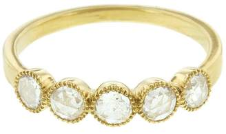 Couture Sethi Five Rose Cut Diamond Ring - Yellow Gold