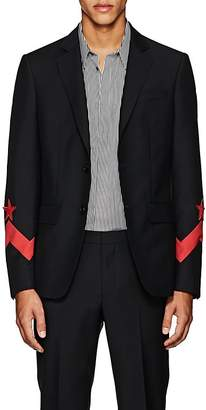 Givenchy Men's Star-Appliquéd Wool-Mohair Two-Button Sportcoat