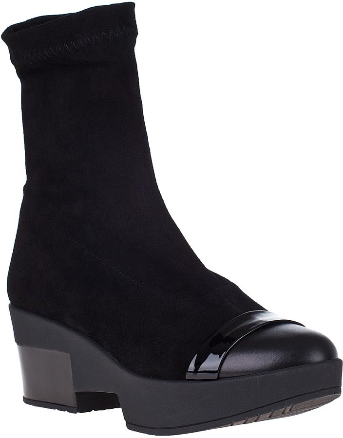 Robert Clergerie Viviene Ankle Boot Black Suede