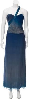 Eric Gaskins One-Shoulder Ombré Dress