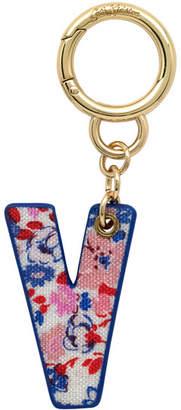 Cath Kidston Mews Ditsy Bag Charm/Key Ring Initial Charm V