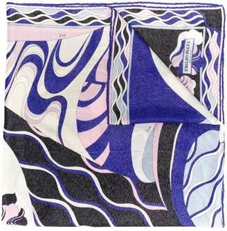 Emilio Pucci Hanami Print Wool and Silk Scarf