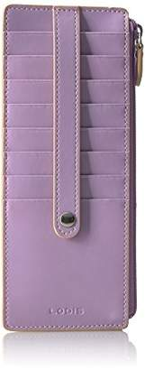 Lodis Women's Audrey RFID Credit Card Case with Zipper Pocket