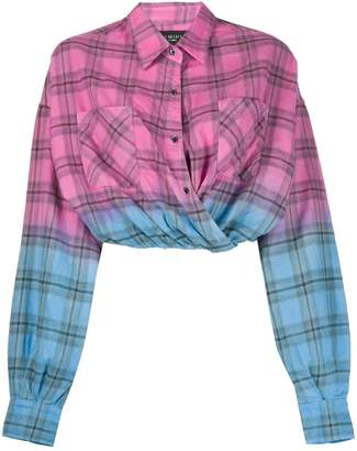 Amiri plaid cropped shirt
