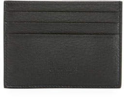 Giorgio Armani Leather Card Holder, Black