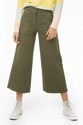 Forever 21 Cropped Wide-Leg Pants