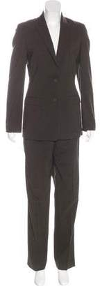 Calvin Klein Collection Wool High-Rise Pantsuit