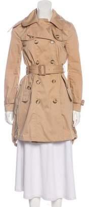 Moncler Bavarelle Long Sleeve Trench Coat