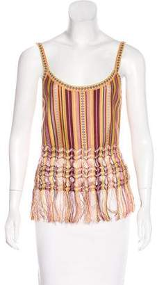 Christian Dior Fringe-Accented Knit Top