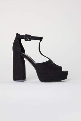 H&M Platform Sandals - Black - Women