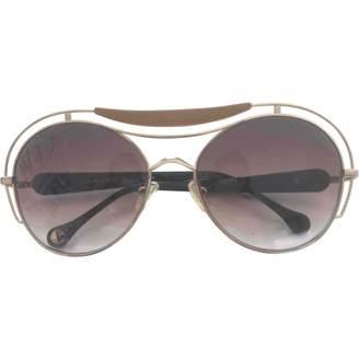 Carven Gold Metal Sunglasses