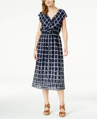 Maison Jules Printed Flounce Maxi Dress, Created for Macy's