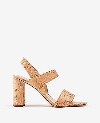 Ann Taylor Lorna Cork Heeled Sandals